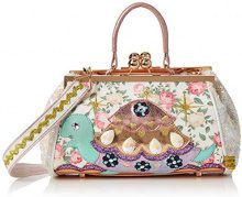 Irregular Choice Jus Sayin Bag - Borse a mano Donna, Bianco (White Floral), 16x18x28 cm (W x H L)