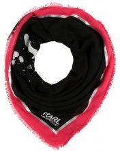 KARL LAGERFELD SPRAYHEAD METALLIC SCARF Foulard black/lollypop