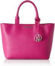 Armani Jeans Borsa Shopping - Borse a secchiello Donna, Pink (Fuchsia), 24x12x38 cm (B x H T)