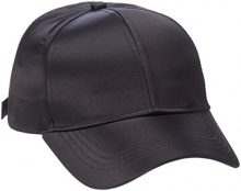 PIECES Pcrivina Satin cap, Berretto da Baseball Donna, Nero (Black), Taglia Unica