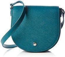 Ecco Iola Small Saddle, Borsa a Tracolla Donna, Blu (Blau (90557), 16 x 15 x 7.5 cm (B x H x T)