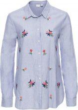 Camicia con fiori ricamati (Blu) - BODYFLIRT