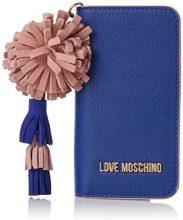 Love Moschino Portacel.small Grain Pu Blu - Pochette da giorno Donna, (Blue), 1x15x8 cm (B x H T)