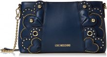 Love Moschino Borsa Vitello Smooth Blu - Borse a spalla Donna, (Blue), 6x16x28 cm (B x H T)