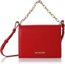 Love Moschino Nappa Nappa Pu Rosso - Borse Baguette Donna, (Red), 8x16x20 cm (B x H T)