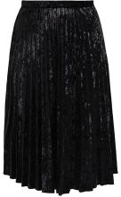 Glamorous Curve PLISSE MIDI SKIRT Gonna a campana black