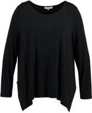 Anna Field Curvy LONG SLEEVE SHIRT WITH ROUNDE Maglietta a manica lunga black