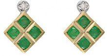 Ivy Gems Donna 9 carati oro giallo Rotonda verde Smeraldo