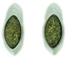 Nova Silver a/e1823 - Orecchini da donna con ambra, argento