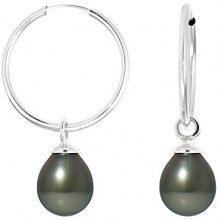 Pearls Colors &, a cerchio, in oro bianco 9 kt, con perla coltivata di Tahiti, 9BOT SB8B AM-131