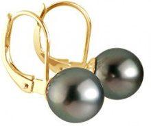 Pearls & Colors - Orecchini, Oro giallo