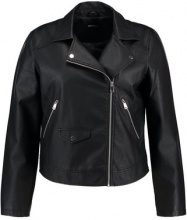 Even&Odd Curvy Giacca in similpelle black