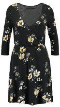 Even&Odd Vestito di maglina black/light yellow