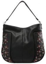 New Look EMBROIDERY RACHEL HOBO Shopping bag black