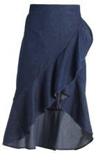 Object OBJAJITA ABRIL WRAP SKIRT  Gonna a portafoglio dark blue denim