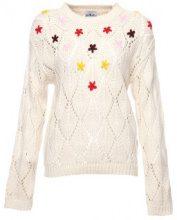 Pullover a maglia con fiori colorati