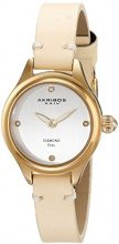 Akribos XXIV-Orologio da donna, al quarzo con Display analogico e cinturino in pelle, colore: ak750yg