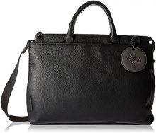 Mandarina Duck Mellow Leather Tracolla - Borse a spalla Donna, Nero, 14x28x38 cm (B x H T)