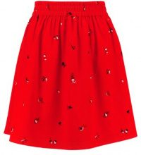 Pieces PCINGEBETH SKIRT Gonna a campana flame scarlet ground