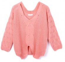 Pullover a maglia con scollo ampio a V