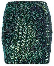 Even&Odd SEQUIN SKIRT Minigonna black/turquoise