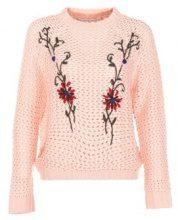 Pullover a maglia con ricamo floreale