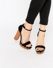 Lipsy - Bella - Sandali neri con plateau stile zoccolo e tacco