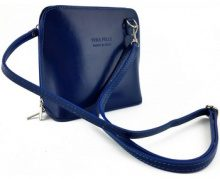 Borsa a tracolla Dream Leather Bags Made In Italy  Borsa Donna A Tracolla In Pelle Colore Blu - Pelletteria Toscana