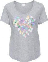 Maglia in jersey con farfalle (Grigio) - BODYFLIRT
