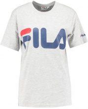 Fila CLASSIC LOGO TEE Tshirt con stampa light grey melange/blue dephts