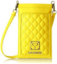 Love Moschino JC5300, Borse a Tracolla Donna, Giallo (Yellow), 13x40x37 cm (B x H x T)