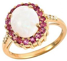 Ivy Gems Donna  925  argento Ovale   multicolore Opale Tormalina