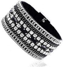 Bracciale Fashionvictime  Bracciale Donna  - Gioiello Re Di Metallo - Cristallo