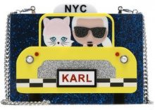 KARL LAGERFELD NYC TAXI MINAUDIERE Borsa a tracolla navy