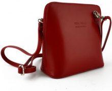 Borsa a tracolla Dream Leather Bags Made In Italy  Borsa Donna A Tracolla In Pelle Colore Rosso - Pelletteria Tosca