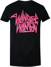 DC Comics Wonderwoman Rock, T-Shirt Donna, Black (Black Blk), 44