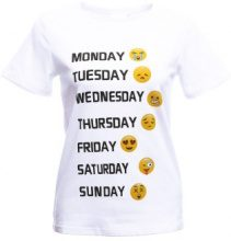 T-shirt con stampa emoticon