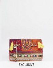 Reclaimed Vintage - Borsa a tracolla con pompon