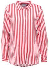 b.young FABIANNE STRIPE Camicia tomato red