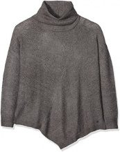 TOM TAILOR Pointed Turtleneck Sweater, Felpa Donna, Grigio (Smoked Pearl Grey 2103), Medium
