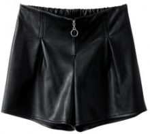 Shorts similpelle cerniera