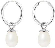 Pearls Colors &, a cerchio, in oro bianco 9 kt, con perla d'acqua dolce, AM-9BOC 133 P5B-WH