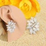 Luxury Wedding Placcato oro 18 k, GP-Orecchini a perno con cristalli Swarovski