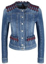 Marc Cain Sports Jacke, Cappotto Donna, Mehrfarbig (Blue Denim 353), 42