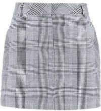 Miss Selfridge Petite CHECK Minigonna grey