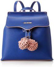 Love Moschino Borsa Small Grain Pu Blu - Borse a zainetto Donna, (Blue), 15x30x32 cm (B x H T)