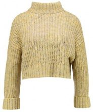 Topshop Petite NEPPY TURN BACK FUNN Maglione yellow