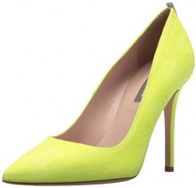 SJP by Sarah Jessica Parker Fawn, Scarpe con Tacco Donna, Giallo (Caution Yellow Suede), 37.5 EU