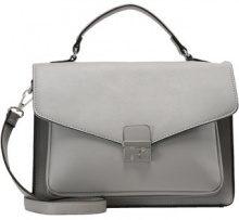 New Look BECKS STRUCTURED SATCHEL Borsa a mano light grey