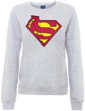 DC Comics - Official Superman Shards Logo Womens Sweatshirt, Lungo da donna, manica lunga, collo rotondo, grigio(heather grey), XL